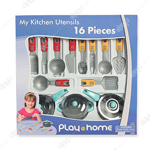16 Pieces My Kitchen Utensils Play Set