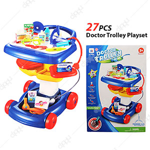 27 Pcs Doctor Trolley Playset