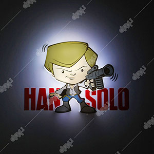 3D Light FX Episode7 Mini Han Solo Light
