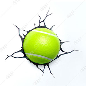 Single Mini Tennis Ball 3D Light