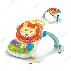 4 in 1 Sit to Stand Baby Grow Up Learning Walker