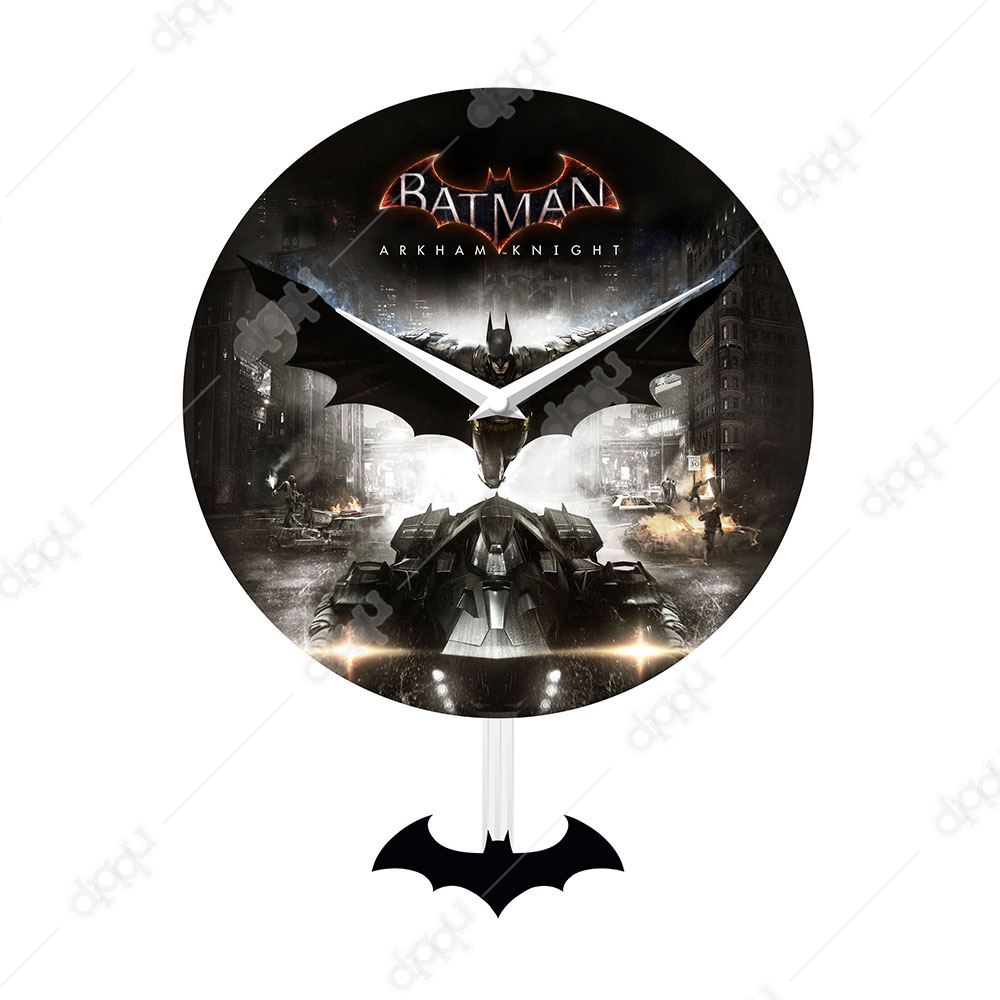 NJ Croce Batman: Arkham Knight Pendulum Wall Clock