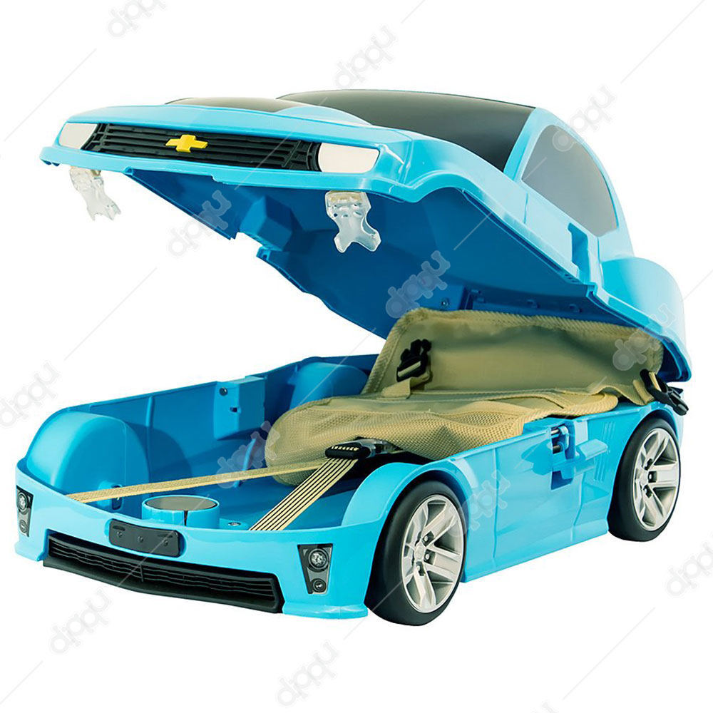 Welly Blue Chevrolet Camaro ZL1 Rolling Luggage