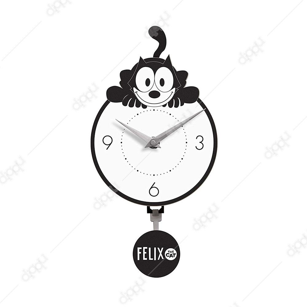 Crouching Felix Mini Motion Clock
