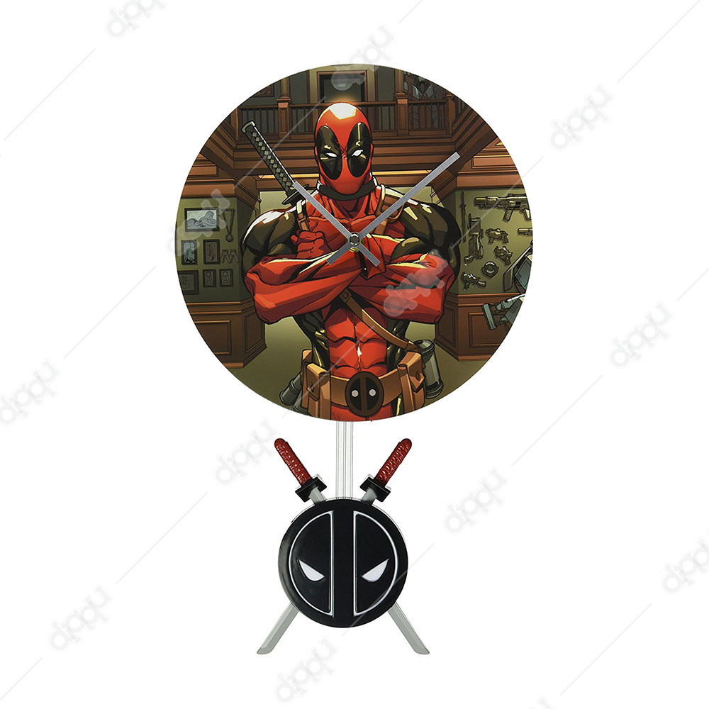 NJ Croce Deadpool Pendulum Wall Clock