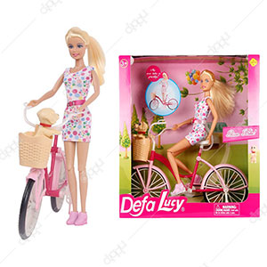 Defa Lucy Doll-charmer cyclist