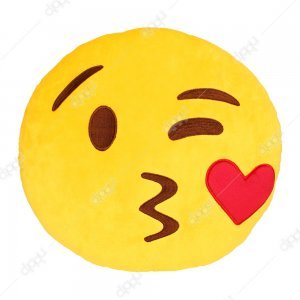 Heart Kiss Emoji Pillow