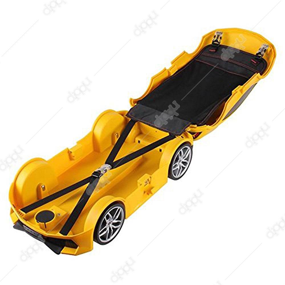 Welly Yellow Lamborghini Huracan Trolley Bag