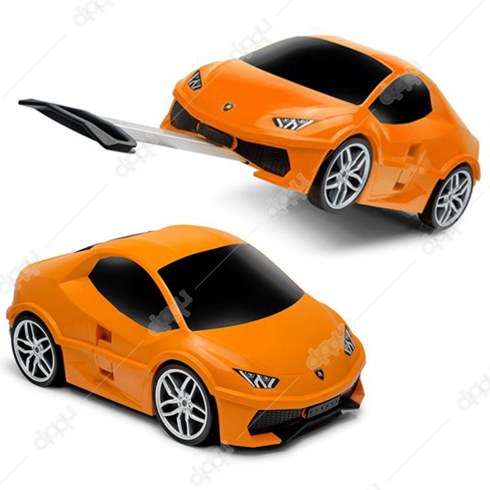 Welly Orange Lamborghini Huracan Trolley Bag