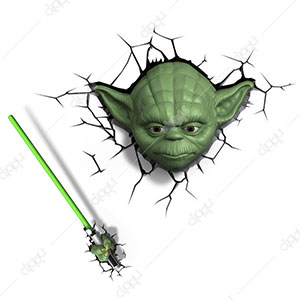 Limited Star Wars Yoda Face Light with Remote