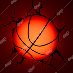 Single Mini Basketball 3D Light