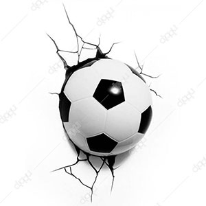 Single Mini 3D Soccer Ball Light