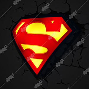 Superman Logo 3D Deco Light