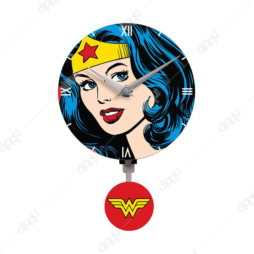 NJ Croce Wonder Woman Mini Motion Clock