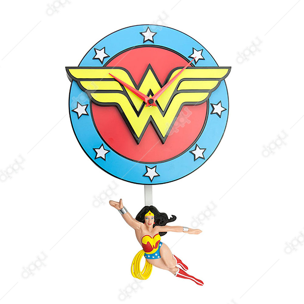 NJ Croce Wonder Woman Pendulum Wall Clock