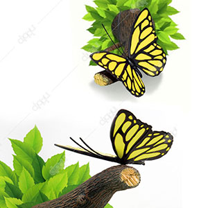 Yellow Butterfly 3D Deco Light
