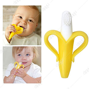 Banana Infant Training Toothbrush and Teether