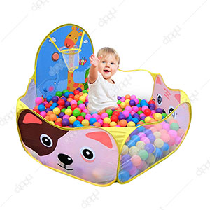 Foldable Ball Pool Pit, Tent with Ball Basket