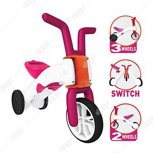 Bunzi 2-in-1 Gradual Balance Bike (Pink)
