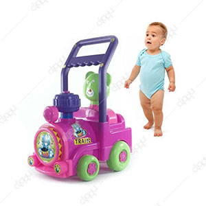 Lovely Train Toy Walker Pink