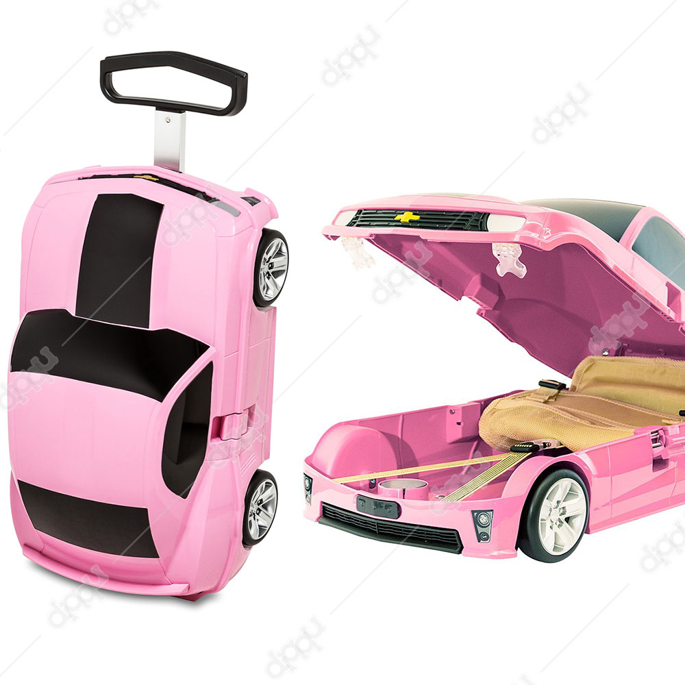Welly Pink Chevrolet Camaro ZL1 Rolling Luggage