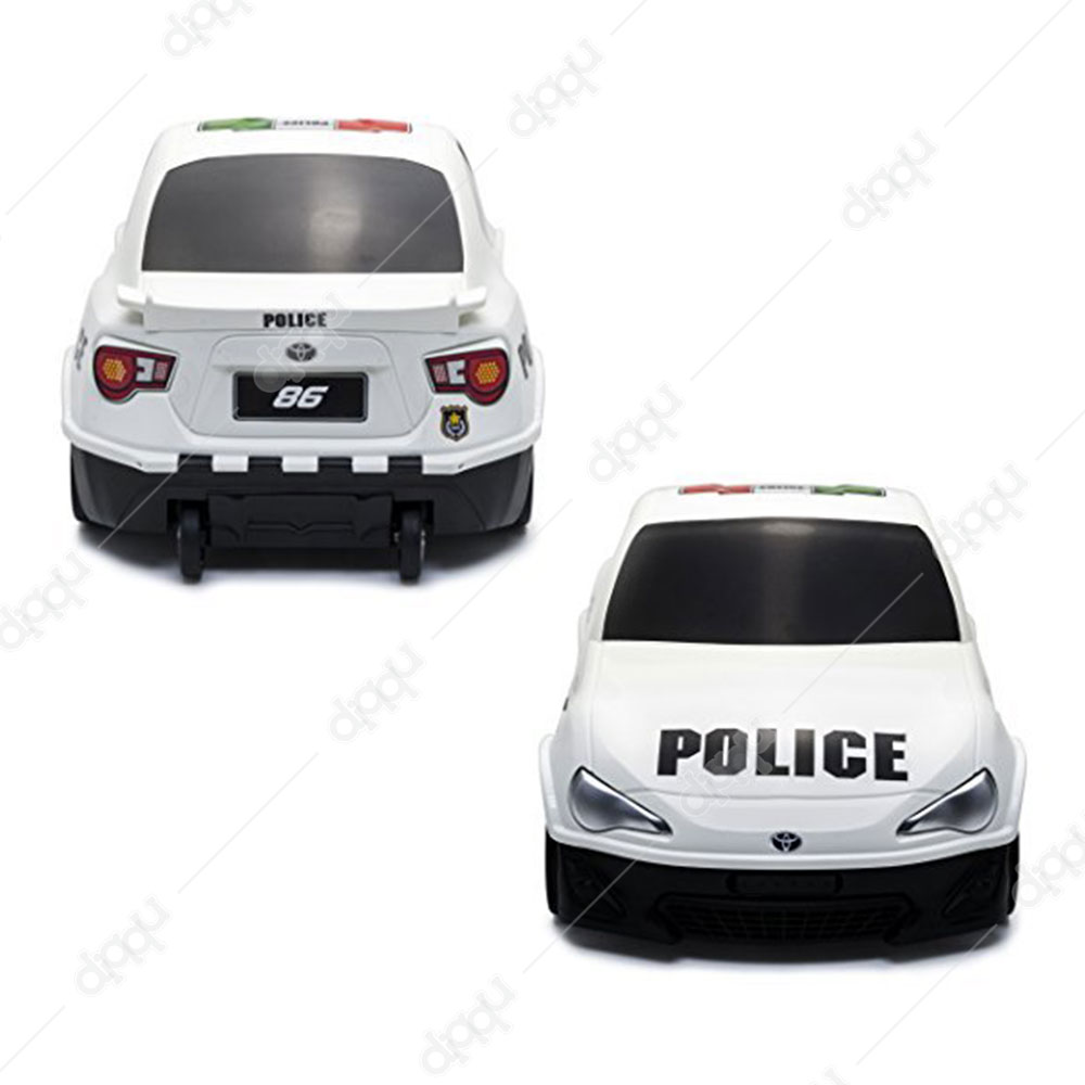Welly TOYOTA 86 Police - White Trolley Bag